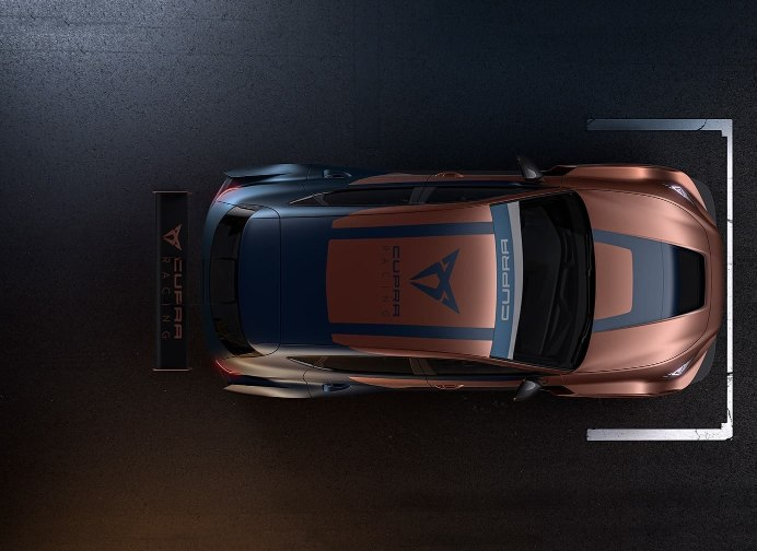 new CUPRA Leon competicion racing car overhead view