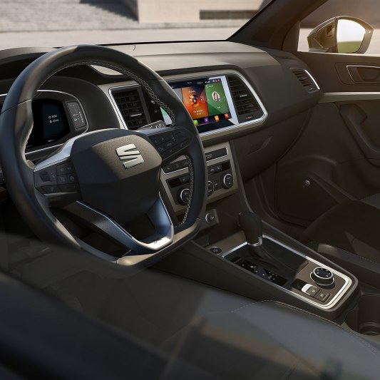 SEAT Ateca SUV detailed view of dashboard