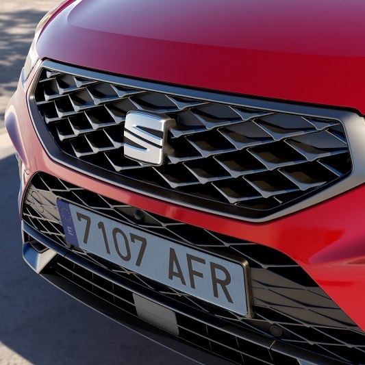 SEAT Ateca FR SUV detailed view of front grille